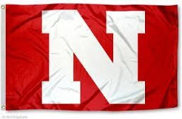 Husker 'N' Flag - Nylon - Double Faced Appliqued