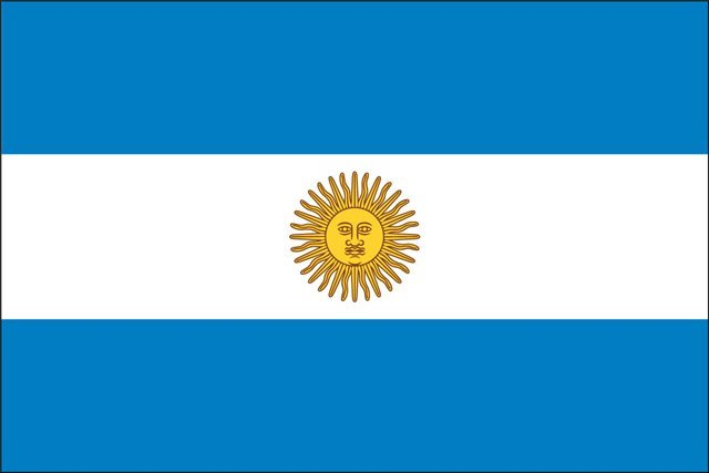 Argentina Flag w/seal